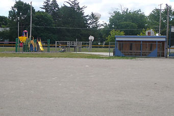 Picture of ballfield and play equipment at St. Mary School playground