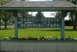 Picture of Daniel Droste Memorial Park sign