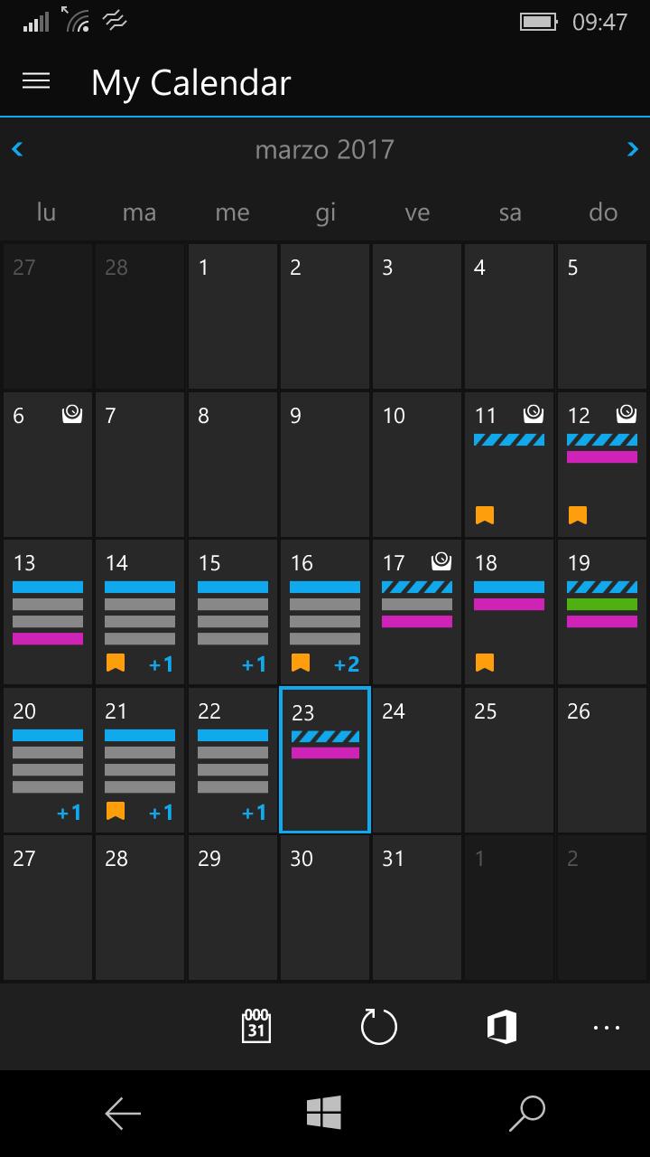activity tracker calendario