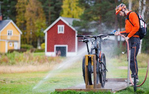 Come pulire velocemente la bicicletta