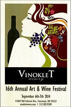 2014 16th Vinoklet Winery Art & Wine Festival Poster