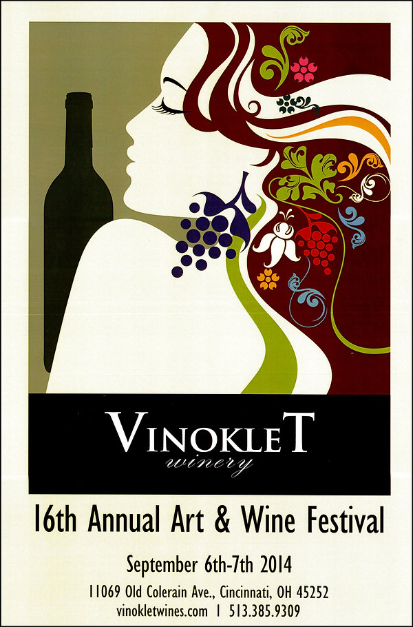 2014 16th Vinoklet Winery Art & Wine Festival Poster