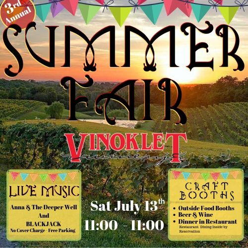Summer Fair at Vinoklet Winery