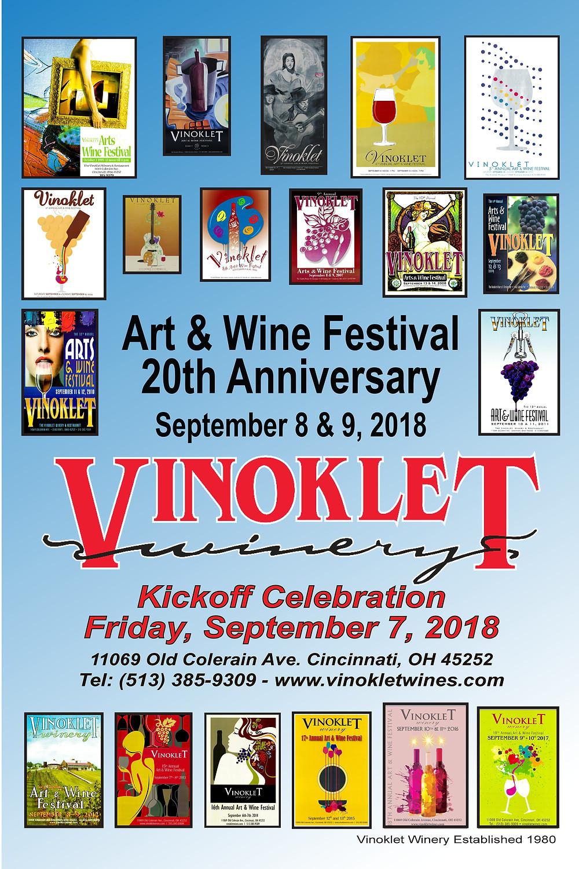 Art & Wine Festival Poster - 20th Annivursery