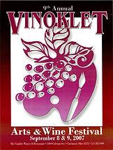 2007 9th Vinoklet Winery Art & Wine Festival Poster.jpg