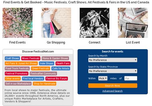 FestivalNet.Com Search For Events