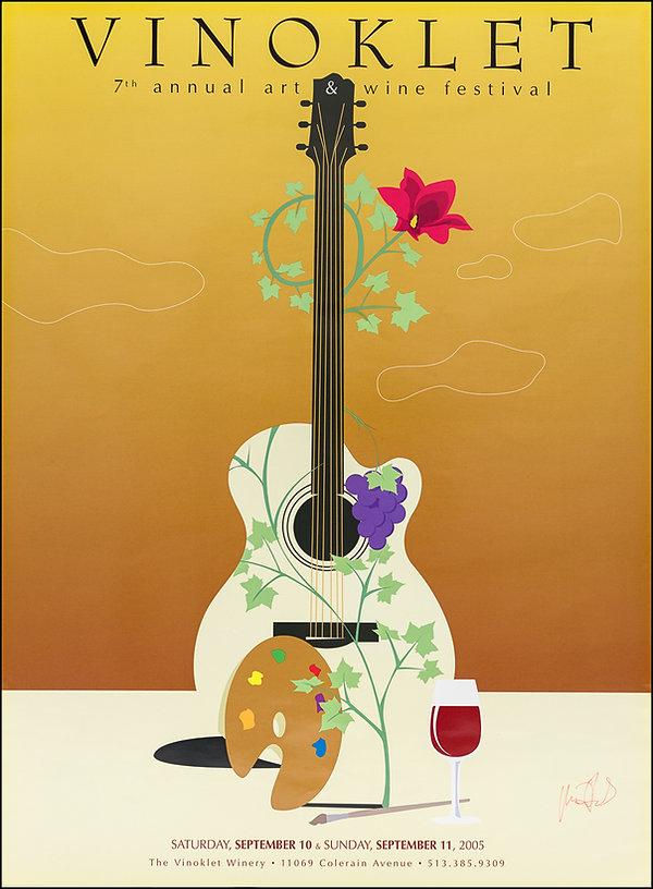 2005 7th Vinoklet Winery Art & Wine Festival Poster.jpg