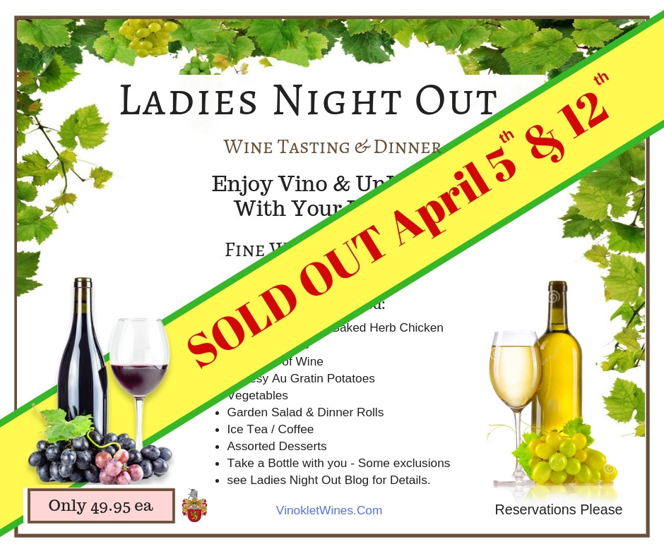 Sold Out Ladies Night Out Vinoklet Winery