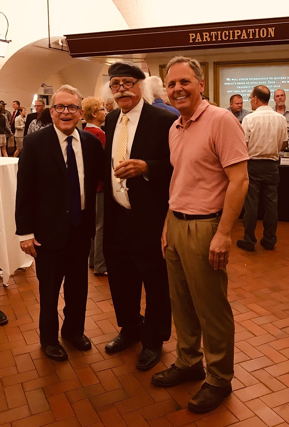 Mike DeWine (Governer) Kreso Mikulic (WineMaster) Jim Black (Mikulic's Son n Law)