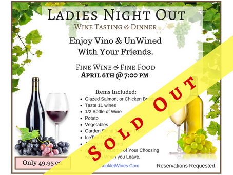 Ladies Night Out, April 6