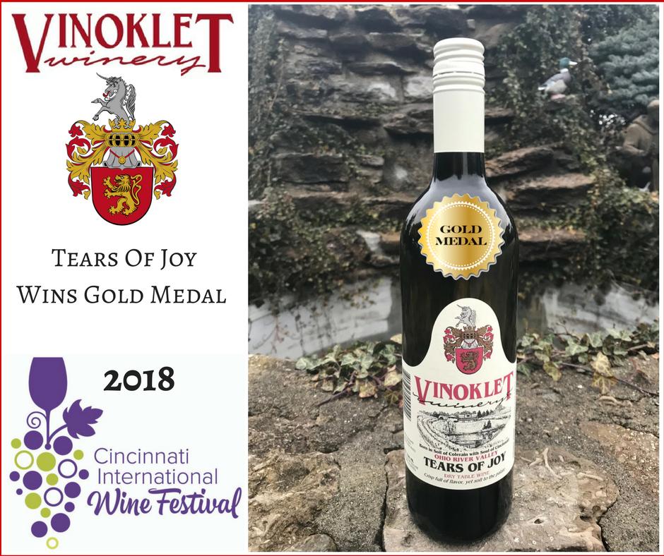 2018 Tears of Joy Wins Gold Medal Cincinnati International Wine Festival
