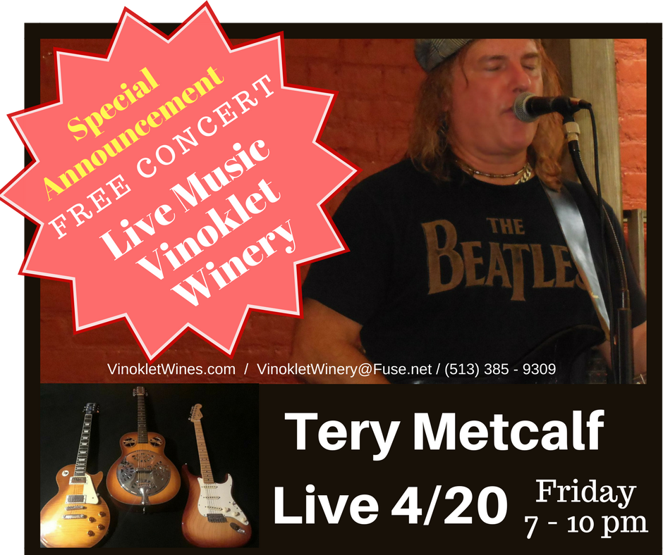 Tery Metcalf Live - Friday April 20th