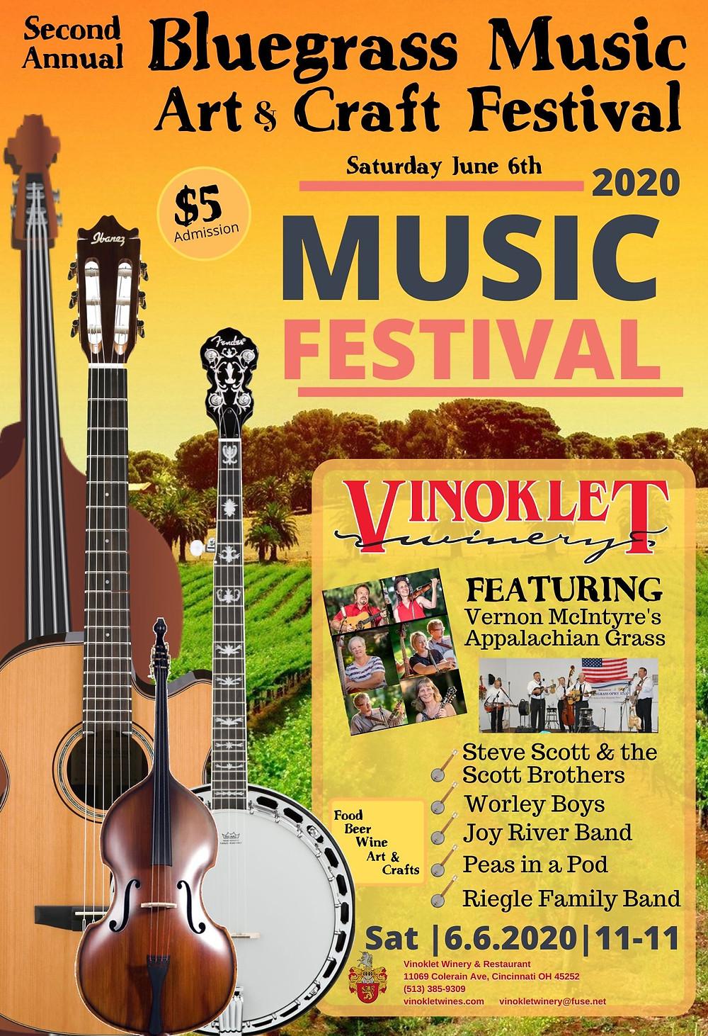 2nd Annual Bluegrass Music Art & Craft Festival