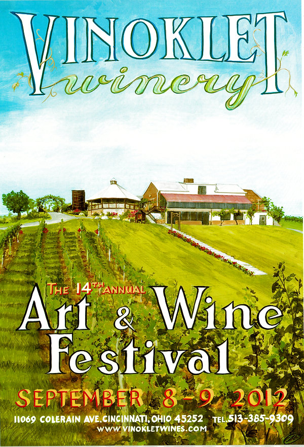 2012 14th Vinoklet Winery Art & Wine Festival Poster.jpg