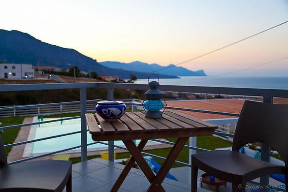 vista del golfo di castellammare dalla terrazza panoramica del b&b casa azul castellammare.