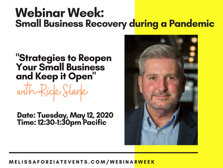 Reopening Your Small Business and Keep it Open Webinar