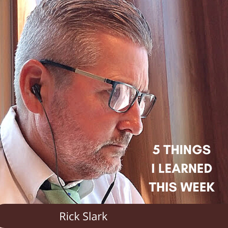 5 things I learned this week