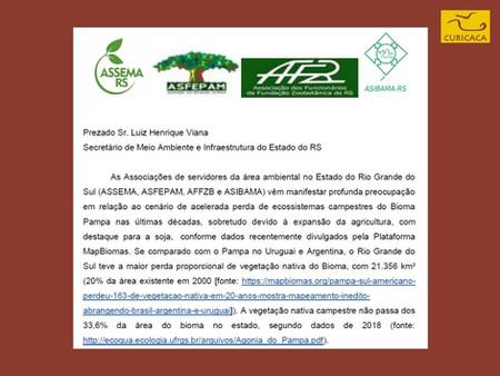 O que a Sema/RS deixa de fazer pelo Pampa? Somamos à Carta das associações de servidores ambientais