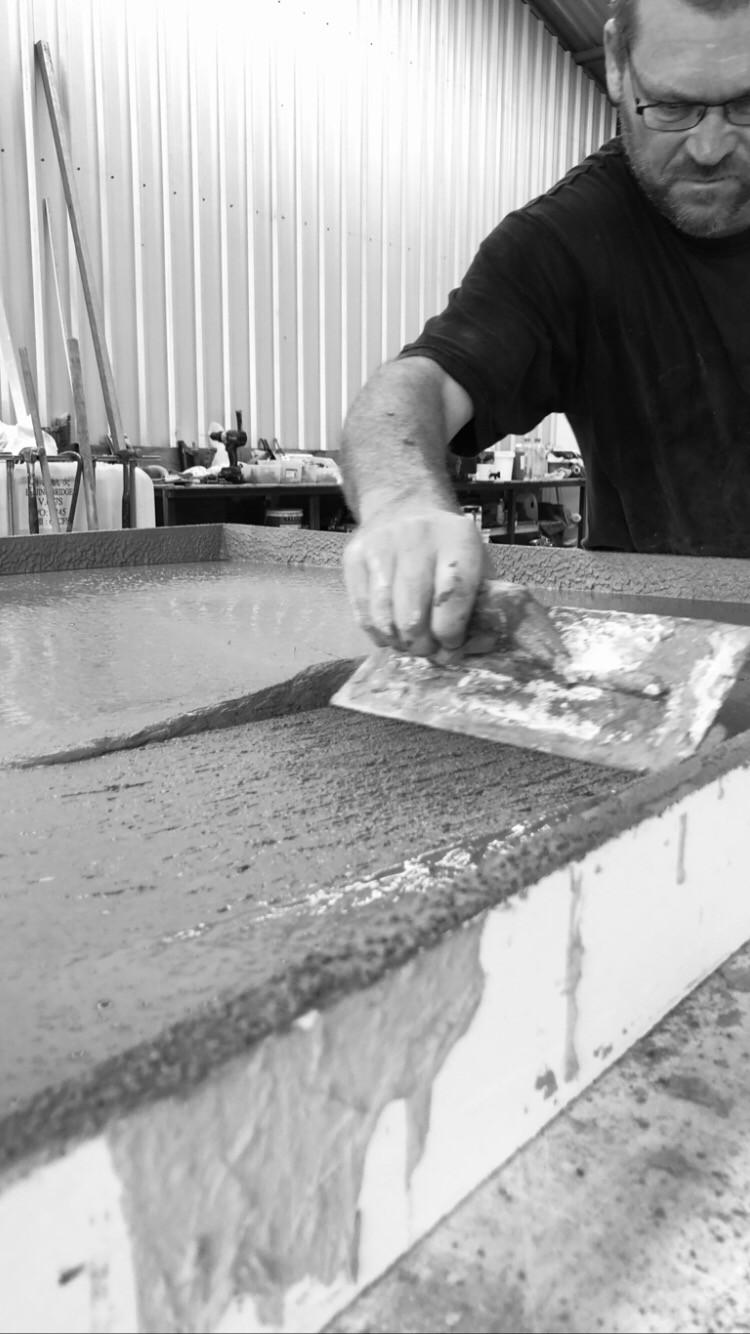 Custom Handmade Concrete Furniture
