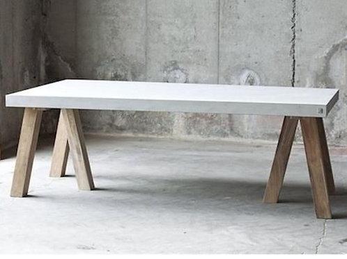 Concrete Table Timber Tripod Legs