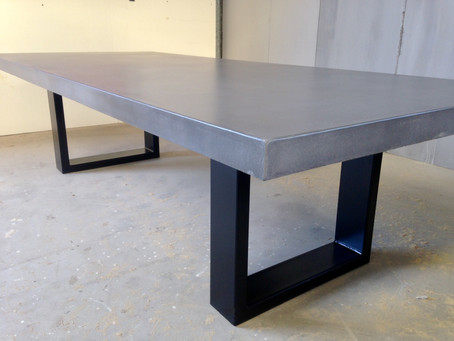 Concrete Top Dining Table - style & functionality!