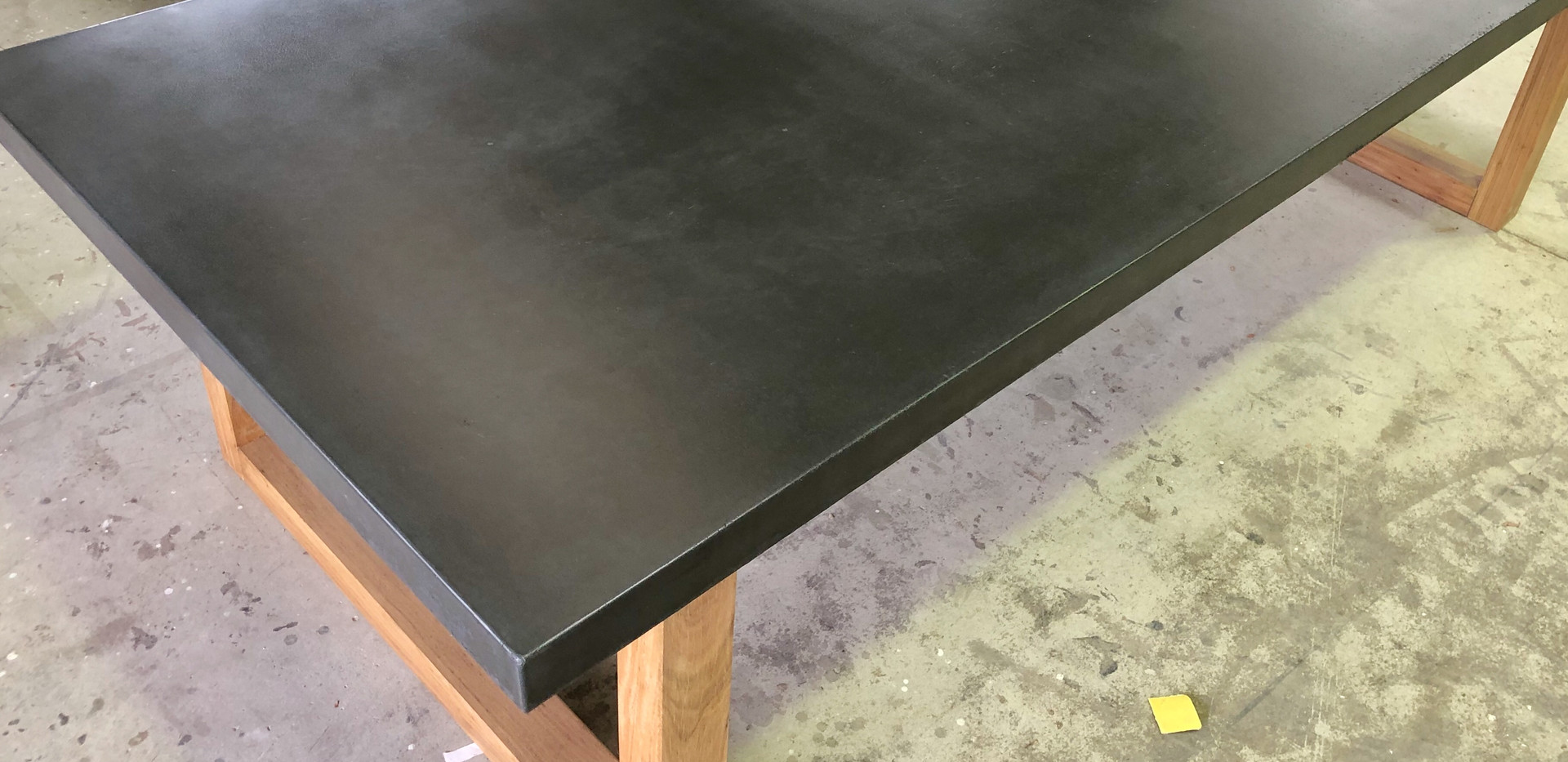 Charcole Concrete Top Dining Table