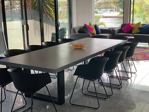 Concrete & Metal dining table - U shape