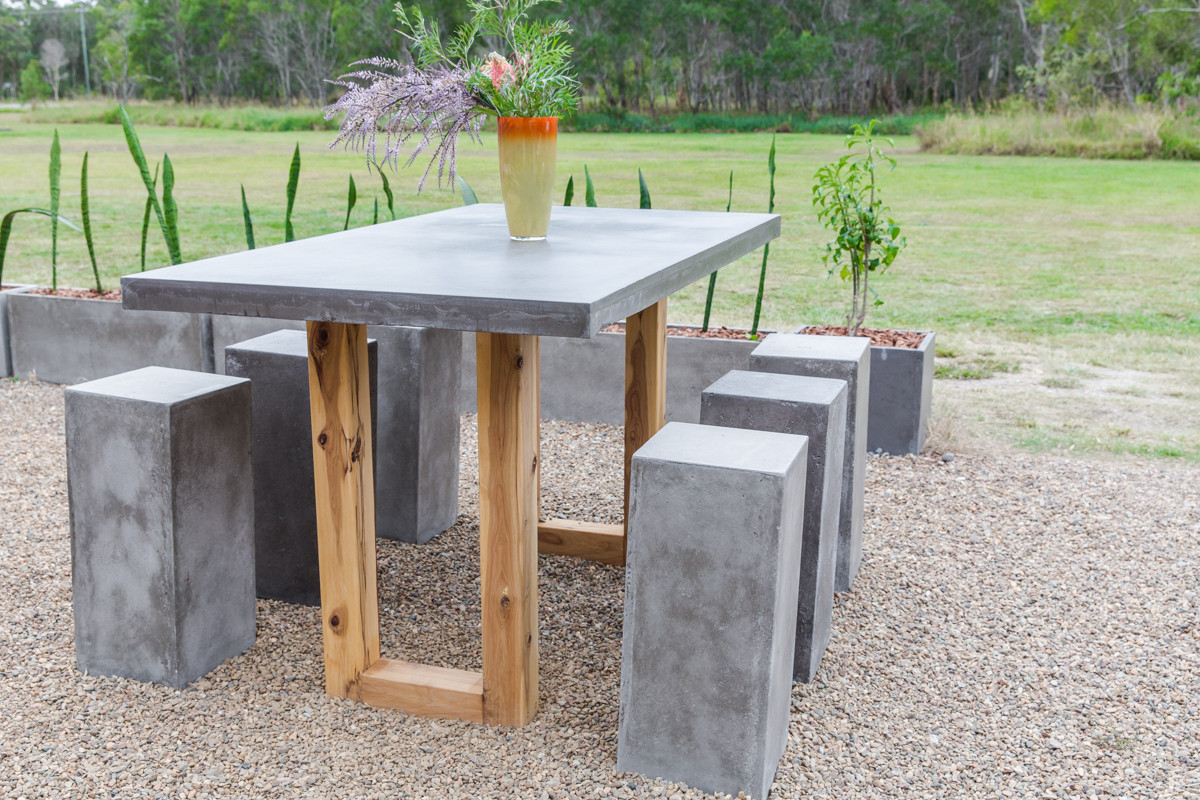 grey bartable timber U legs with stools.jpg