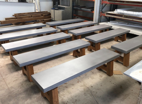 Concrete Top Tables & Bench Seats
