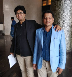With Prasoon Joshi