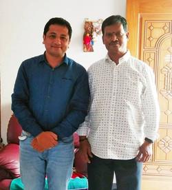 With Arunachalam Muruganantham (the real
