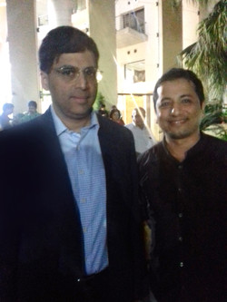 with Indian chess Grandmaster and fo