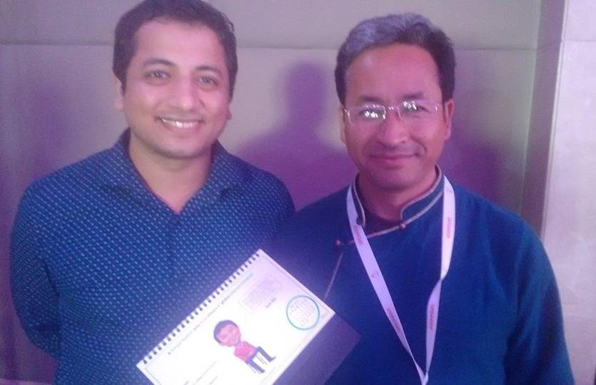 With Sonam Wangchuk (the real Phunsukh W