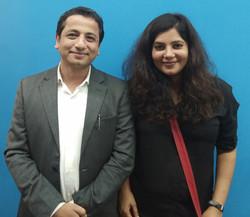 With Shradha Sharma