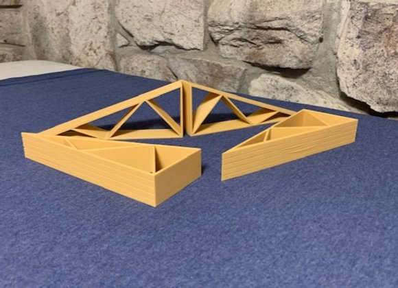 Set of 2 trusses stacked 5 high (4 pieces to make 2 full trusses)