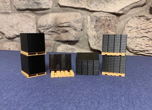 Stacks of shingles on pallets (set of 6)