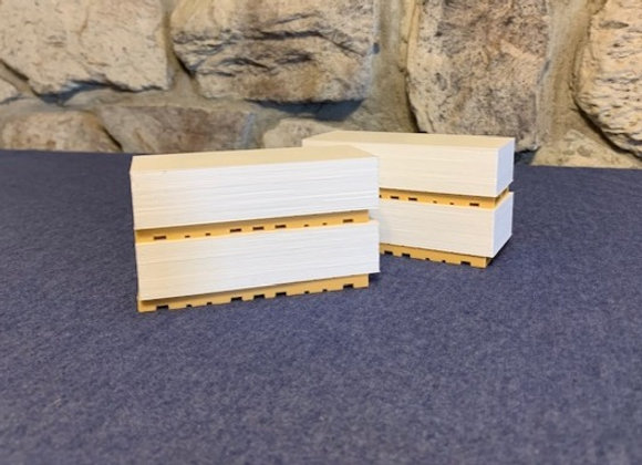 Stacks of drywall on long pallets (set of 4)