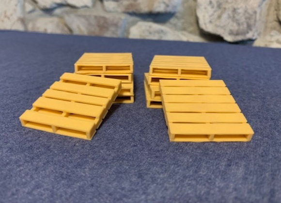 Pallets (set of 10) 1 5/8 inches x 1 7/8 inches.
