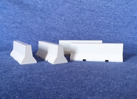 Jersey Road Barriers- Set of 4