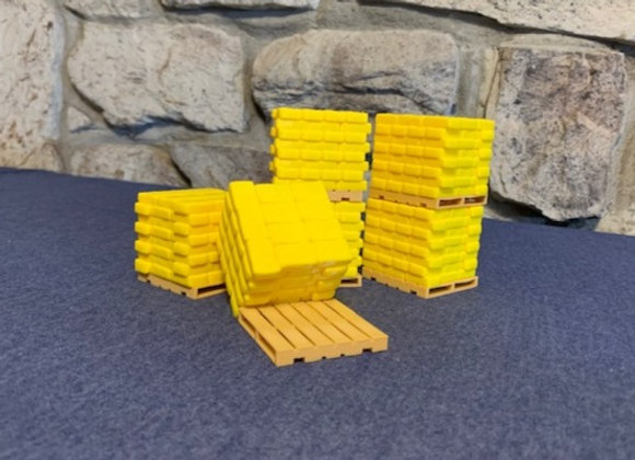 Piles of bags on pallets (set of 6)