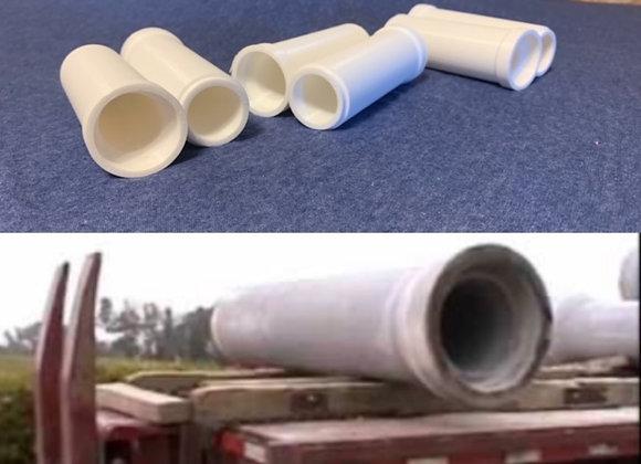 Concrete Pipe - set of 6