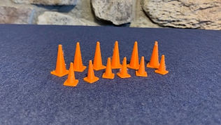 Set of 12 cones (6 small, 6 large)