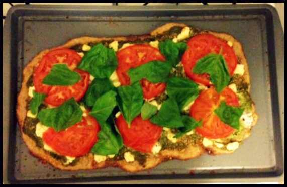 Day 24: Tomato Basil Pizza