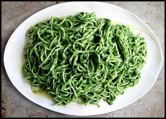 Day 1: Kale Pesto Pasta