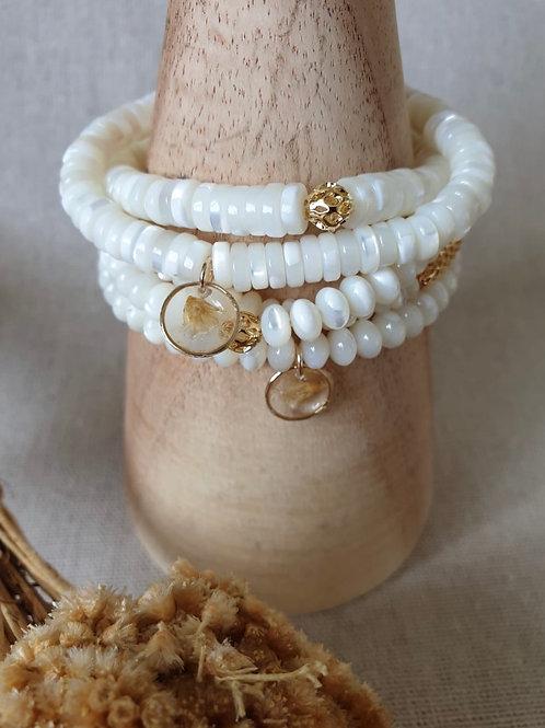 Bracelets Nacre & Immortelle