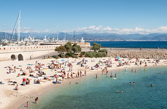 Antibes old town beach