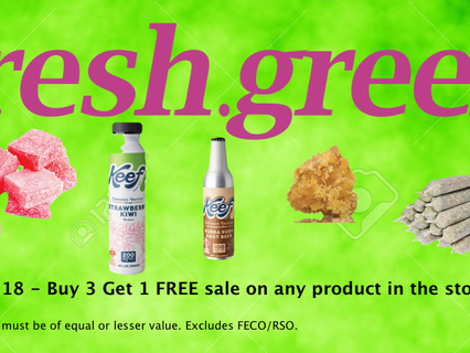 Buy 3 Get 1 Free on every product in the stores June 18th Only!*