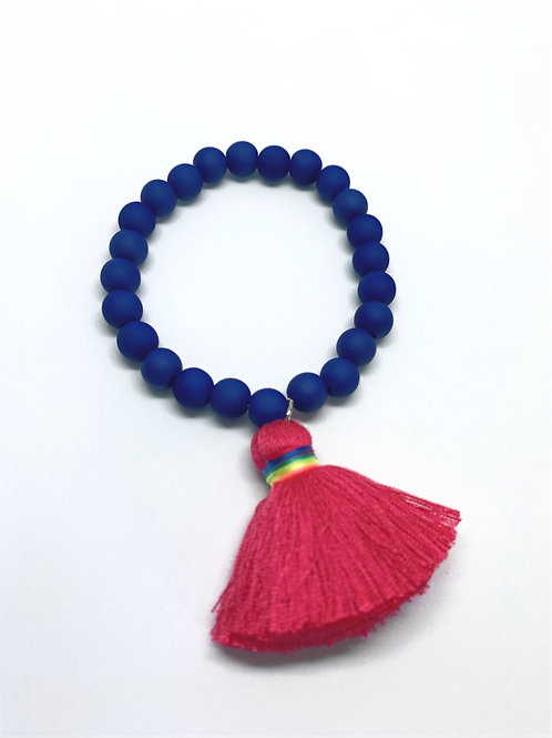 Beaded Bracelet with Tassle