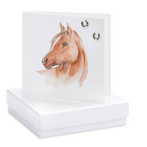 Horse Boxed Earring Card (Blank)