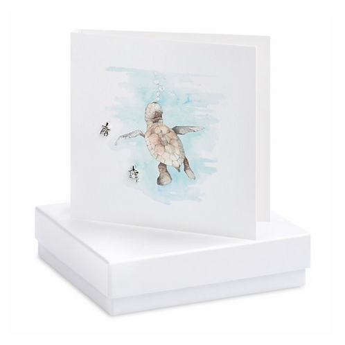 Turtle Boxed Earring Card
